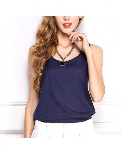 Shirts Loose 2019 High Quality Solid 6Sizes 11Colors Hot Sale Unique Chiffon Soft 1PC Comfortable Sleeveless Candy Color - D...
