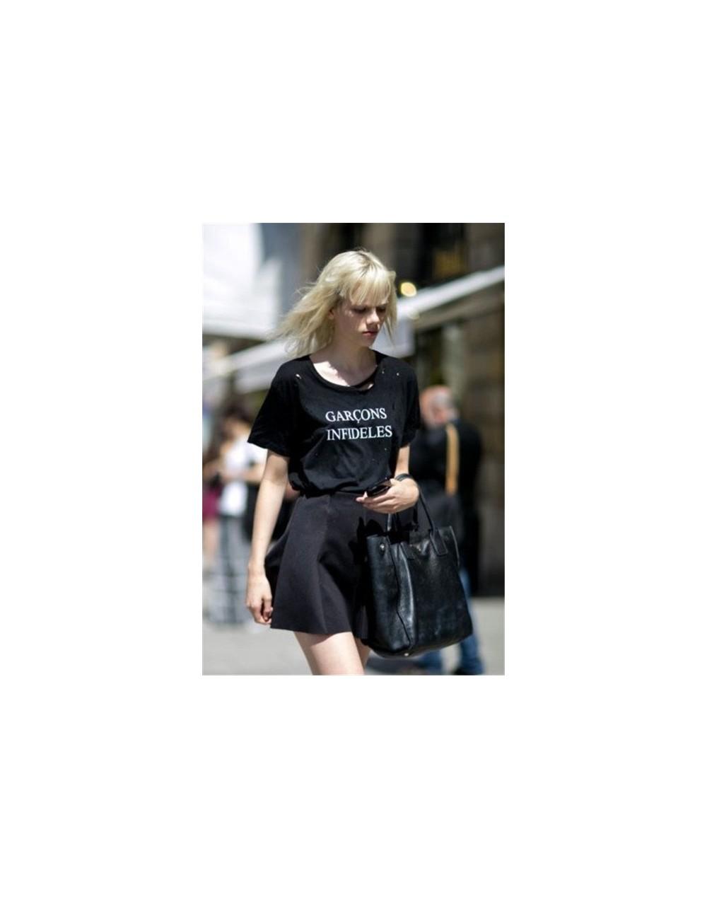 Black Is My Happy Color Letter Women Unisex Black O Neck T Shirts Printing Fashion Tee Black Tops - WTQH769-black - 4I350039...