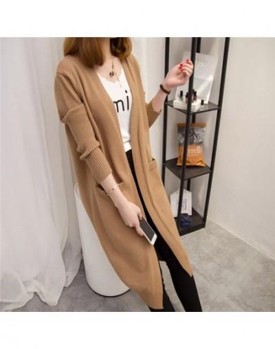 Women Long Sweater Coat Knitwear Cardigan 2018 Spring Autumn New Loose Wild Long Sleeve Sweater Cardigan Female Casual Tops ...