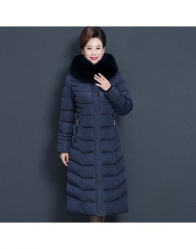 Women Middle-aged X-Long Thicken Winter Jackets 2019 New Ladies Fur Hooded Collar Coats Warm Cotton Parkas Female Outerwear ...
