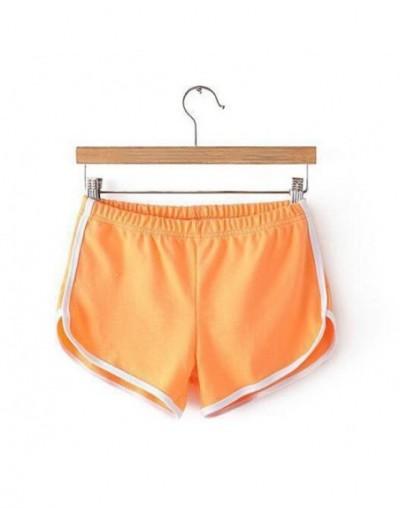 2019 New fashion Summer Shorts Women Casual Shorts Workout Waistband Skinny Short for women - Orange - 4T3086632581-9