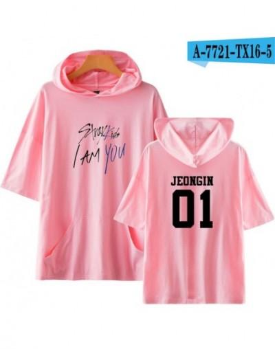 2018 Stray Kids I Am You Pop New Idol Short Sleeve Cool Hoodies Sweatshirts Harajuku Pop women/men hoodies plus 4XL - pink -...