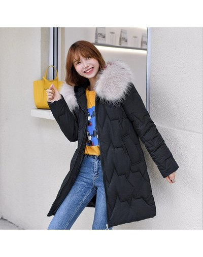 Students Down Cotton Padded Thick Warm Winter Jacket Women s Long Style Winter 2019 New Korean Big Fur Red Loose Parkas Coat...