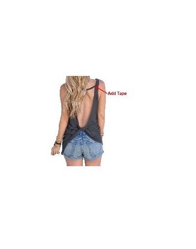 2019 New Summer Women Sexy Vest Sleeveless Backless Shirt Top Blouse Sexy Vest Tops Open Back Fitness running t shirt - Dark...