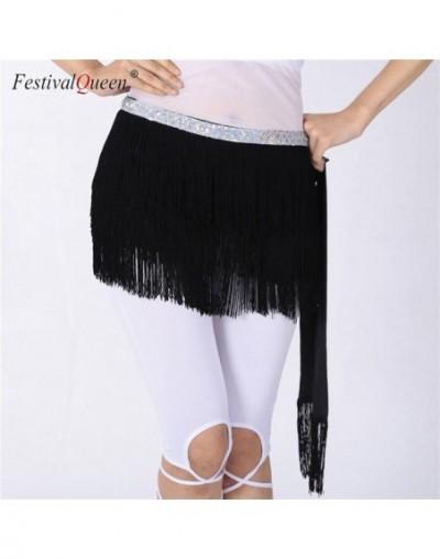 Belly Dance Hip Scarf Skirt for Women Tassel Fringes Costume Belt Tribal Fringe Wrap Belt Mini Skirts - Black - 433029511996-1