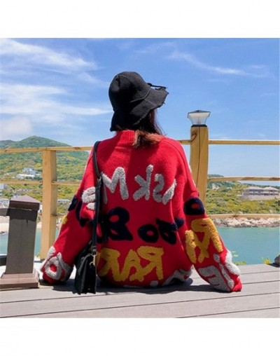 3D Letters Print Women Cardigan Thick Warm Casual Loose Cool Girl Open Stich 2019 Autumn Winter New Fashion Sweater 68864 - ...