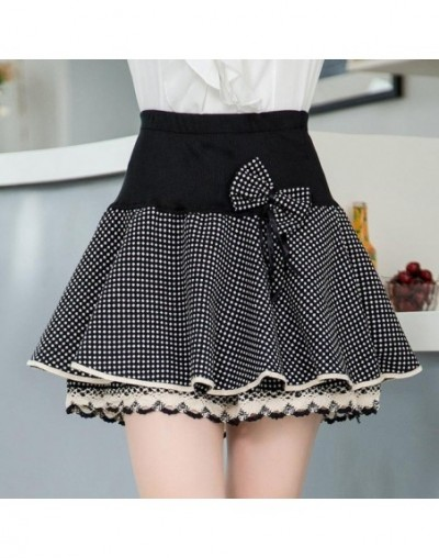 2018 Elasticity Summer Skirt Women Sweet Floral Bowknot Mini Tutu Woman Skirts Shorts Lace Jupe Femme Office Skirts - tb1801...