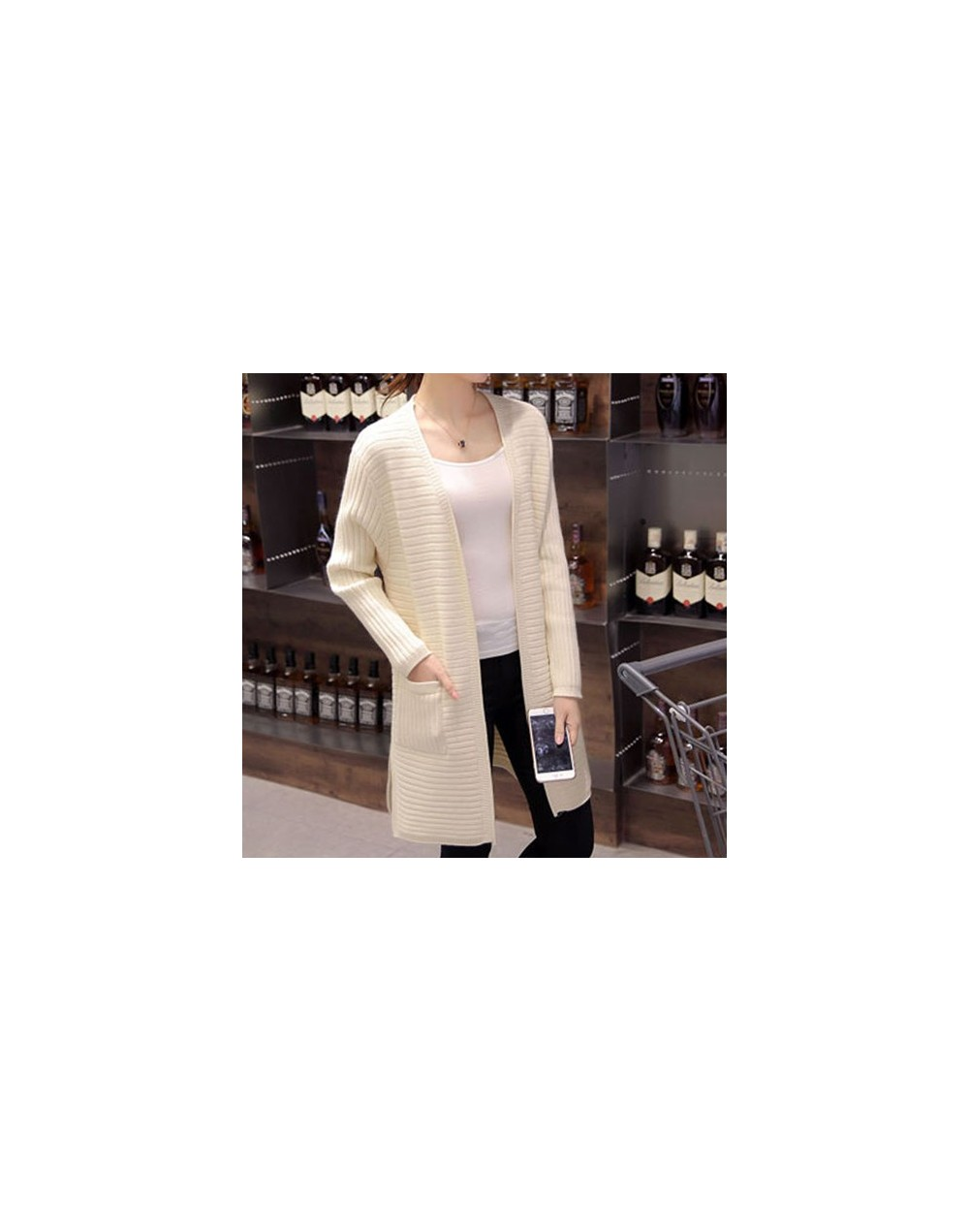 Cheap wholesale 2018 new autumn winter Hot selling women's fashion casual warm nice Sweater L594 - Beige - 493031593805-1