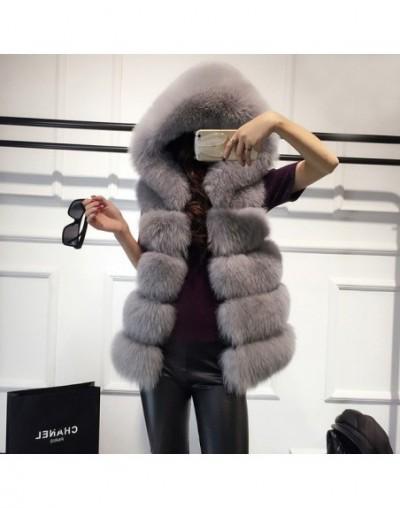 High quality Fur Vest coat Luxury Faux Fox Warm Women Coat Vests Winter Fashion furs Women's Coats Jacket - White - 4L303291...