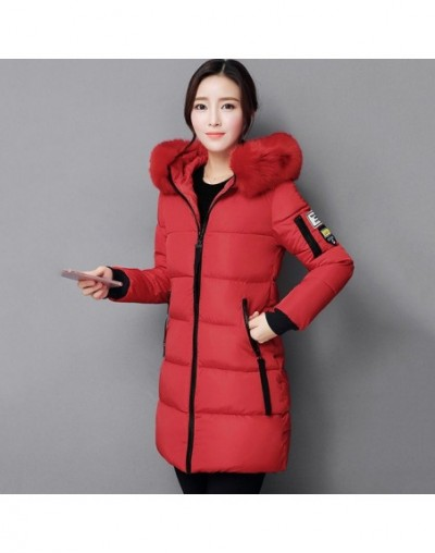 2018 New Fashion Women Winter Jacket With Fur collar Warm Hooded Female Womens Winter Coat Long Parka Outwear 8Colors LQ505 ...