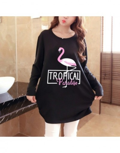 women 2019 new autumn winter Hoodies & Sweatshirts casual pullover large long sleeve loose plus size warm fashion print whit...