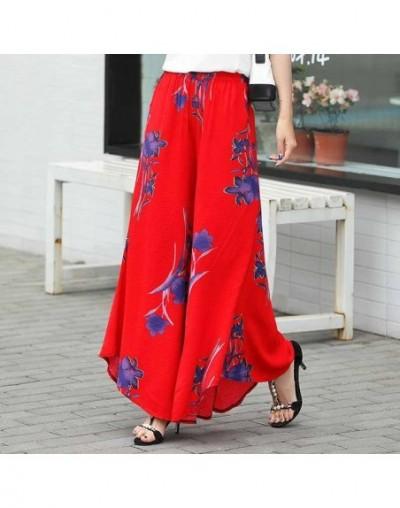 Summer slim fluid wide leg pants female trousers fancy plus size wide-leg pants feet straight casual boot cut - COLOR 16 - 4...