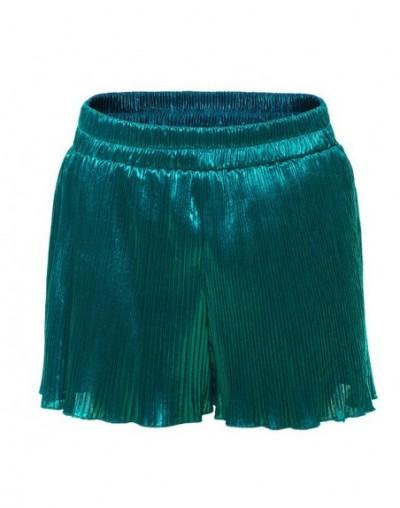 Summer Silver Black Green Sexy Polyester Shorts Women Shorts High Waist Female Bottom Sexy Party Beach Style Ruffles - Green...