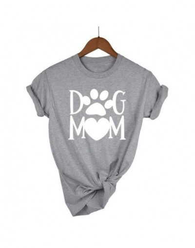 Dog mom paw Letters harajuku Print Women tshirt Cotton Casual Funny t shirt For Lady Girl Top Tee Hipster Drop Ship - Light ...