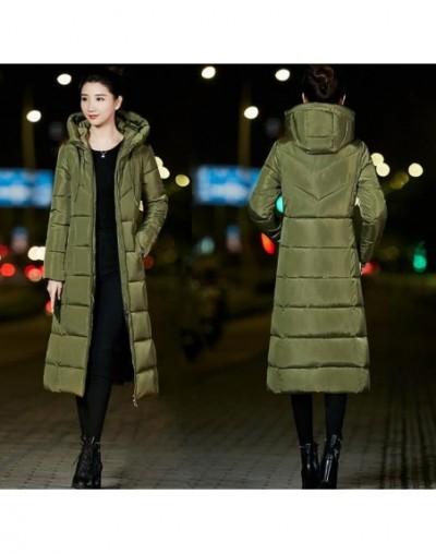 Woman Winter Jacket Coat 2019 Fashion Cotton Padded Jacket X-Long Style Hood Slim Parkas Plus Size Thicken Female Outerwear ...