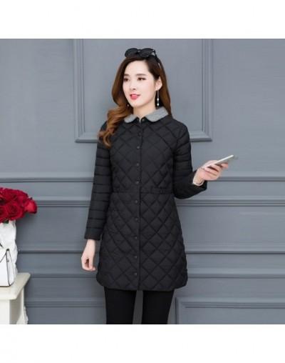 5XL Autumn Winter Coat Women 2018 Plus Size Cotton Padded Clothes Female Mid Length Vintage Korean New Down Cotton Jacket T6...