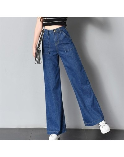 2019 New Spring Loose High Waist Wide Leg Jeans For Women Stretch Vintage Full-length loose Boyfriend Pants Trousers - Style...
