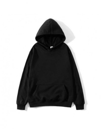 2019 New Social Harajuku Hoodies For Girls Solid Color Hooded Tops Women's Sweatshirt Long-sleeved Winter Velvet Thickening ...