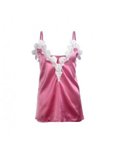 New Women Summer Lace Vest Top Sleeveless Blouse Casual Tank Tops T-Shirt - Pink - 4Y4146811320-3