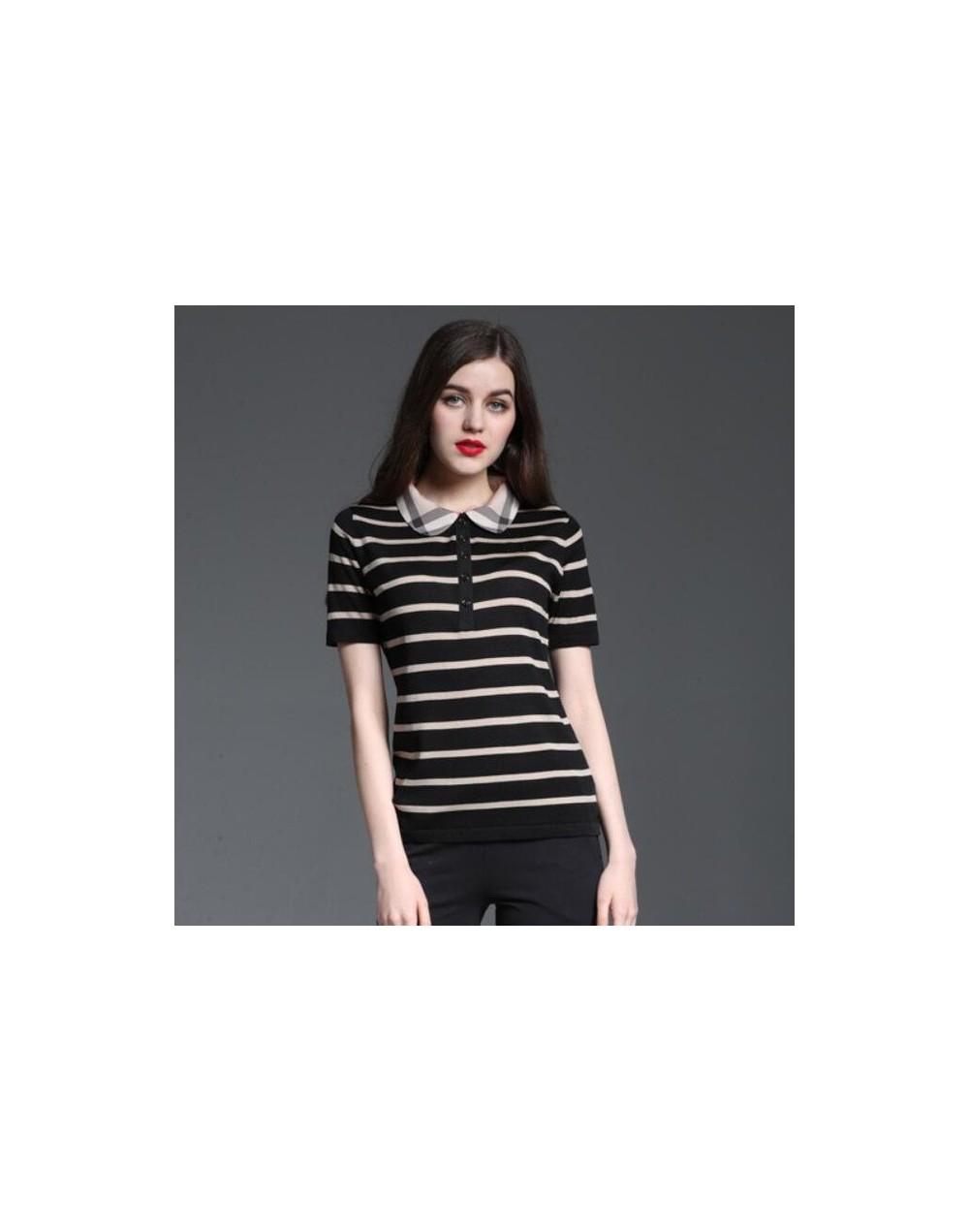 Polo Shirt Women Short Sleeve Summer Striped Casual Shirt Luxury Brand Slim Fashion Tops Camisa Polo Feminina Female Clothes...