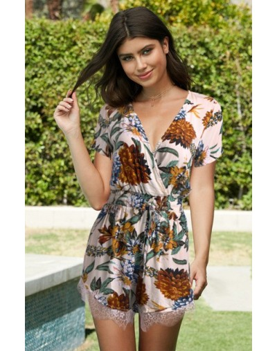 Sexy Bodysuit Floral Print Jumpsuit Playsuit Body Women Rompers Top Feminino Boho Clothes Overall Tops Bohemian Casual Summe...