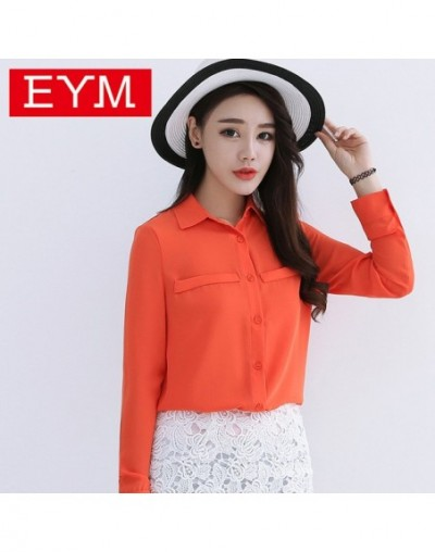 Brand Women Blouse 2019 New Casual Women's Long Sleeved Solid Shirt Plus Size Blouses Ladies Office OL Style Shirts Blusas -...