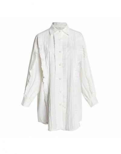 Two Piece Set Female Long Sleeve White Ruffle Shirt Dresses Knitting Lace Up Black Vest Korean Womens Dress Suit - dress - 4...