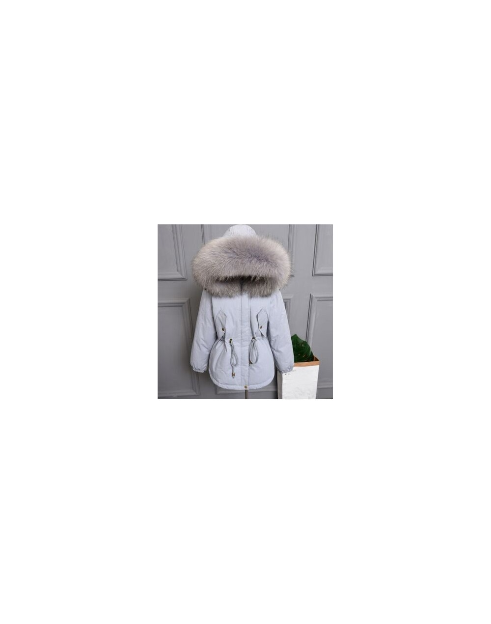 Thicken Warm Winter Coat Women Oversize 2019 Large Real Natural Fur White Duck Down Parka Hooded Outerwear Winter Jacket Wom...