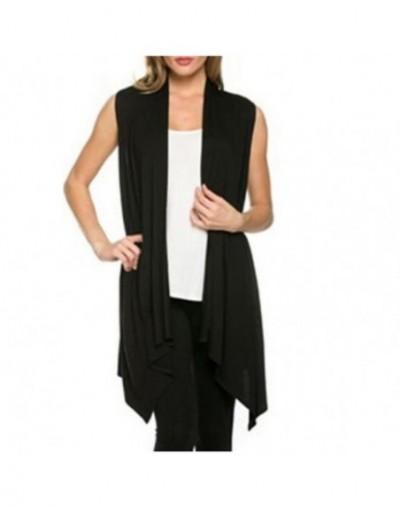 Women vest sleeveless open stitch Coat Jacket Vest Irregular shrug Waistcoat Knit Bat Shirt Cardigan Female Feminino Outwear...
