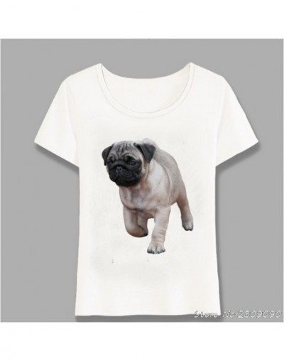 Summer Hipster Black And Fawn Pug Puppies T-Shirt Women t-shirt Novelty Girl Tops Fashion Cool Lady Casual Tee Harajuku - 2 ...