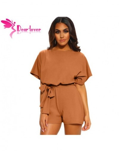 Dear Lover Casual Playsuit Summer Blue/Black Batwing Sleeve Playsuit Romper Women Jumpsuits Short Overalls Macacao LC64515 -...