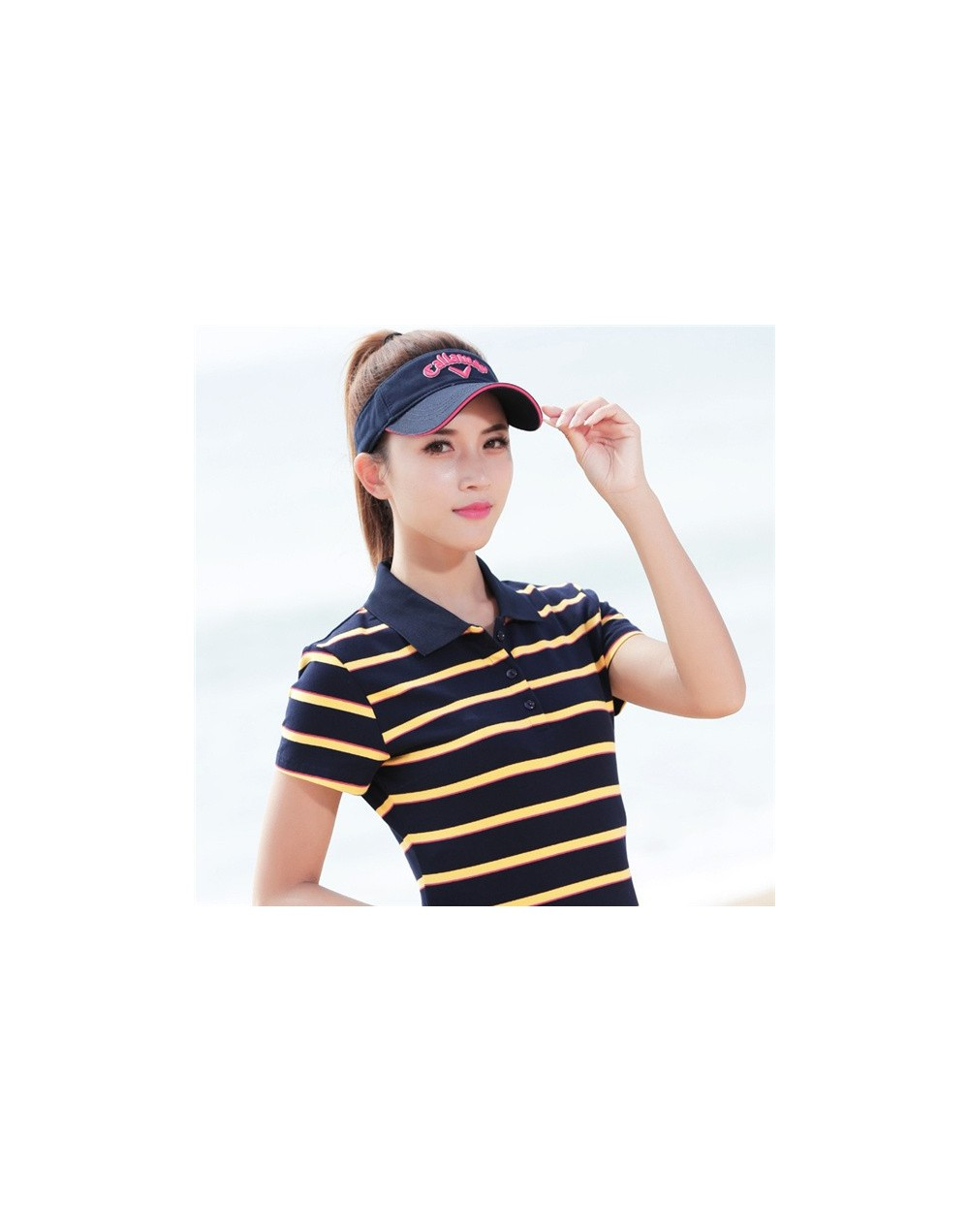 Plus Size M-4XL 100% Cotton Polo Shirt Women Summer Top Lady Striped Polo Raph Shirt Female Polo Femme Golf Shirt Clothing -...