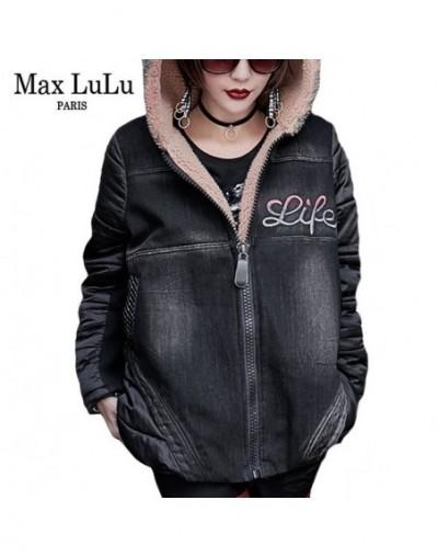 Luxury Japanese Thick Girls Punk Streetwear Women Denim Winter Jacket Warm Hooded Parka Woman Fur Coat Casaco Plus Size - Bl...