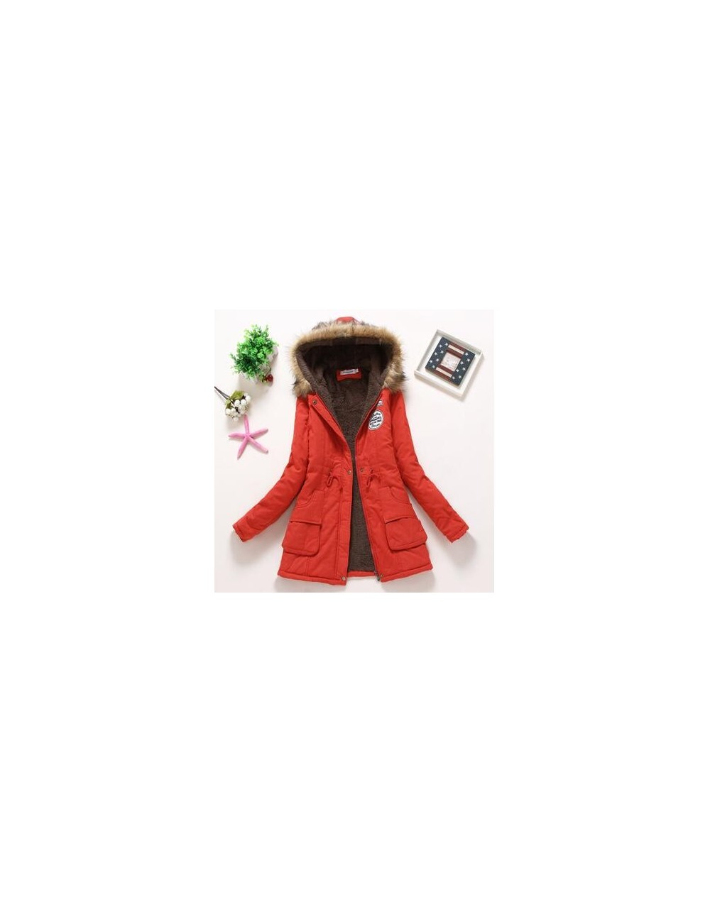 new winter military coats women cotton wadded hooded jacket medium-long casual parka thickness plus size XXXL quilt snow out...