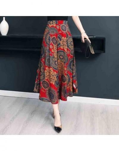 2019 Summer pants women casual loose Elastic Waist vintage pant print trousers women wide leg pants - color 9 - 453088614948-9