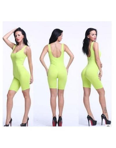 Jumpsuit Tank Top For Women Large Size Elastic Rompers Womens Jumpsuit Casual Playsuit Sexy Bodysuit Women Body Large Overal...