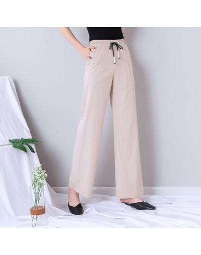 White High Waist Wide Leg Pants Women Plus Size Summer Thin Lace Up Streetwear Harajuku Palazzo Pants Women Sweatpants Jogge...