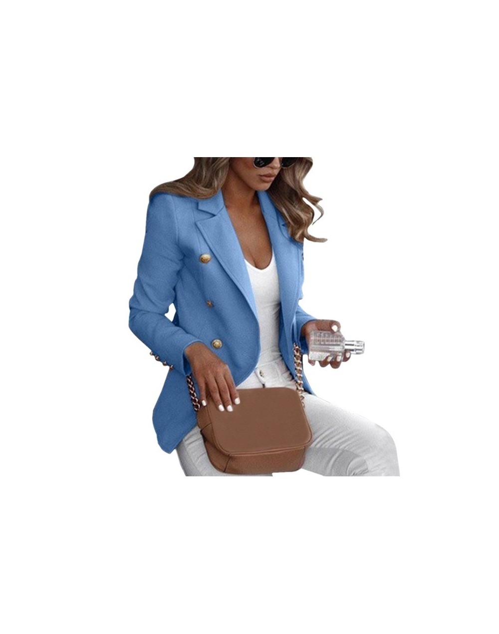 Women Autumn Slim Fit Smart Casual Blazer Long Sleeves Office Vintage Gothic Plus Size Ladies Jacket Fall Coats Office Femal...