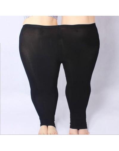 Women Pants 2018 Plus Size 5XL Skinny Slim Elastic Waist Pencil Pants High Strenchy Modal Capris For Womens Leggings - Black...