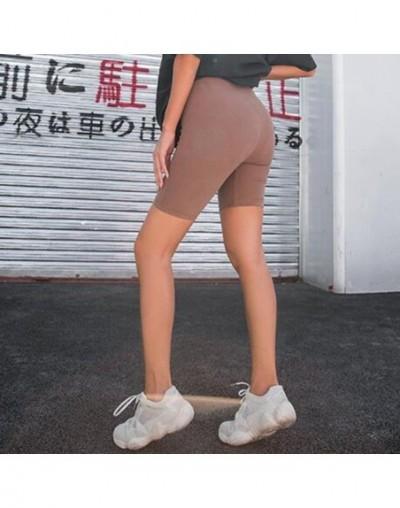 Black biker shorts high waist shorts vintage cotton ladies summer shorts feminino khaki short pants women 2019 - Khaki - 4G3...