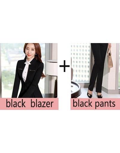 Womens formal suits Workwear office uniform designs women office suits blazers feminino spa uniform elegant business pant su...