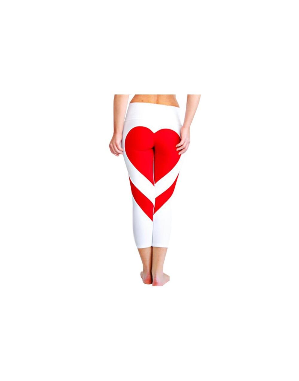 Love Peach Printing Splice Women's Sports And Fitness Leggings Polyester Breathable Plus Size Leggings Fashion Legins - Blac...