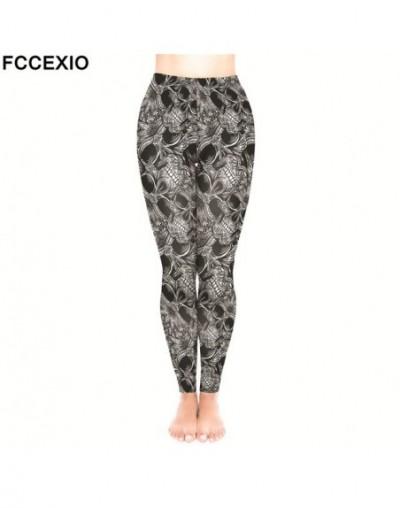 Female Workout Pants High Waist Fitness Legging New 5 Style Skulls Skeleton Print Leggins Women Leggings Slim Trousers - 2 -...