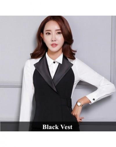 OL slim work wear women black vest skirt suit formal slim office uniform business plus size suits - Black Vest - 4W3882523391-1