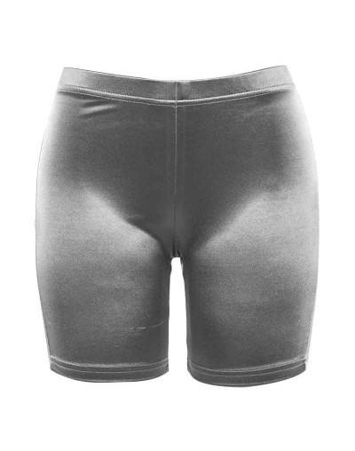 new fashion women short pants high waist elastic skinny shorts 2019 female solid color fitness sporting push up short pant -...