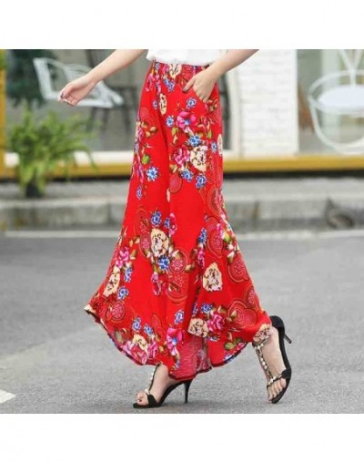 Summer slim fluid wide leg pants female trousers fancy plus size wide-leg pants feet straight casual boot cut - COLOR 22 - 4...