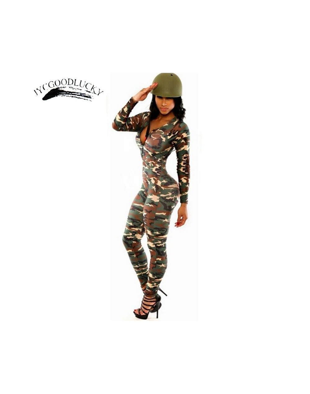 Camouflage Overalls Body Be It Rompers Womens Jumpsuit Playsuit Sexy Fitness Jumpsuits Combinaison Femme Slim Catsuit For Wo...