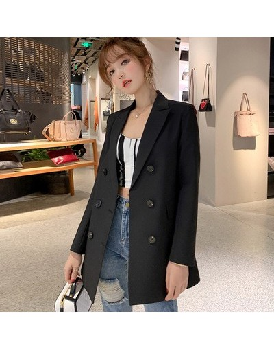 OL Casual Double Breasted Women Blazer Jacket Notched Collar Female Jackets Fashion Suits Outwear 2019 Spring Autumn Coat - ...