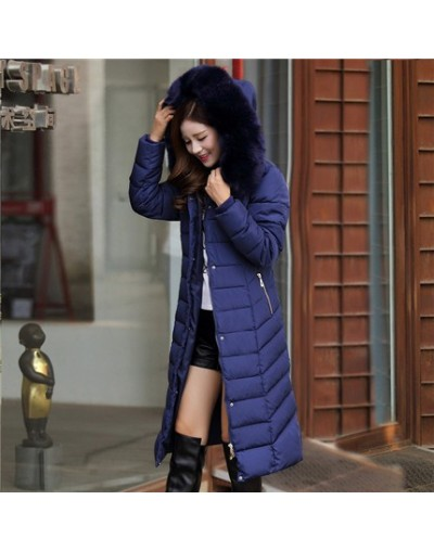 Women Winter Coat Cotton Knee Long Jackets Coat Female Overcoat Hooded Thick Padded Jacket Lady Plus Size Outerwear Parkas L...