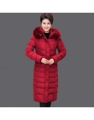 2019 Plus size 6XL Middle-aged Female Winter Down cotton Jacket Coats Hooded Long Parka Winter Coat Women Thick Warm Jackets...